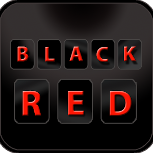 Stylish Black Red Keyboard