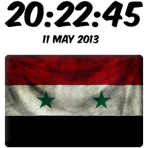 Syria Digital Clock